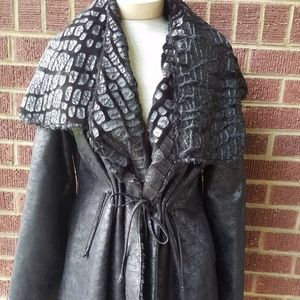 vintage black cape coat